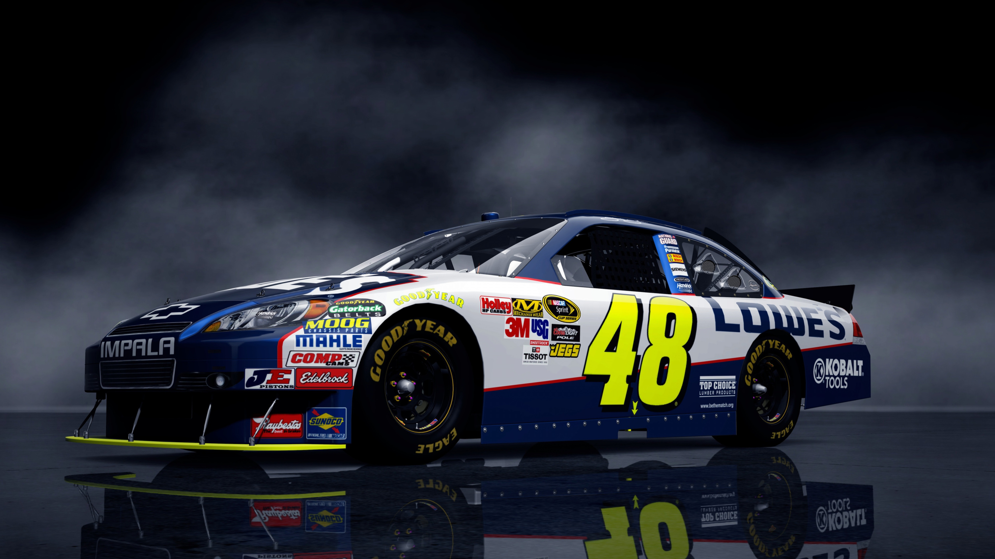 chevrolet_car_nascar_lights_background_81176_3840x2160